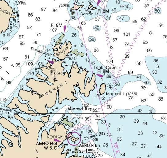 Shuyak NOAA Chart