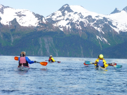 Kayaking in Resurrection Bay