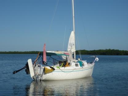 KneeDeep at anchor