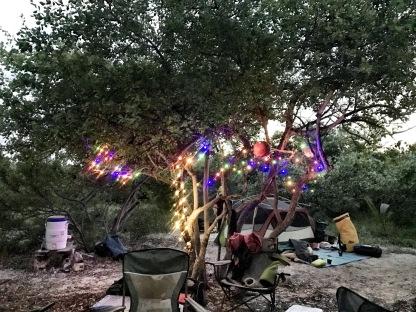 Christmas lights and all