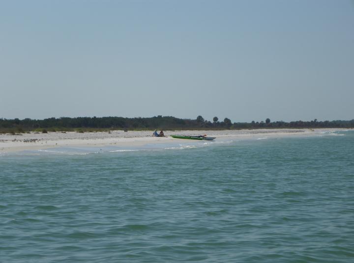 Sea kayaks on the Gulf