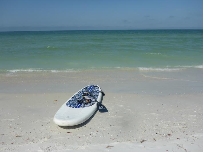 Paddleboard on Caladesi Beach