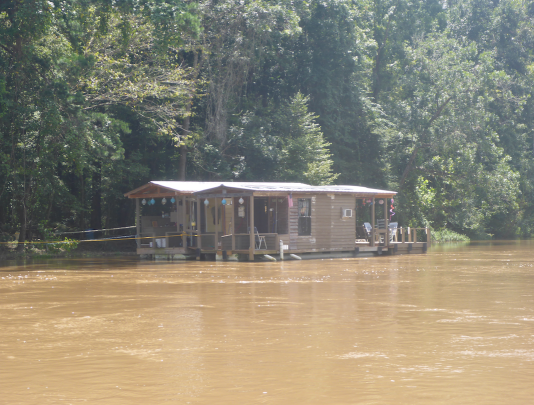 Floating camp on the Choctawhatchee