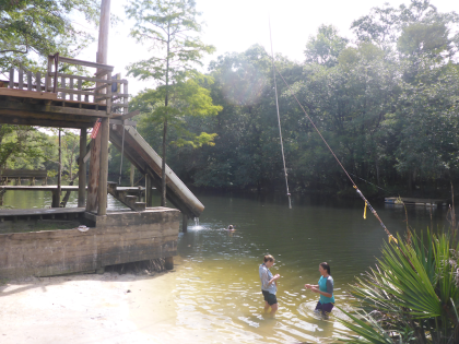 Rope swing and slide on Holmes Creek