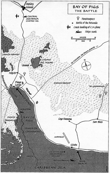 Bay of Pigs battle map