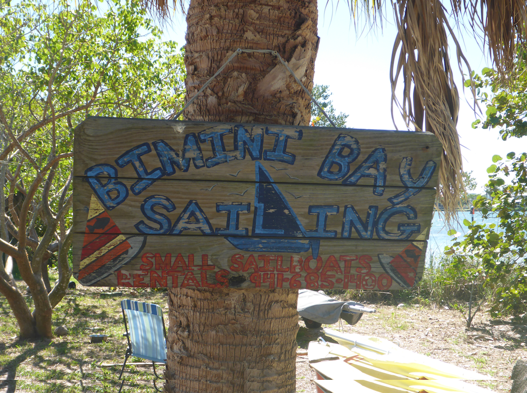 Bimini Bay Sailing sign
