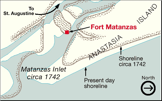 Map of Matanzas 1742