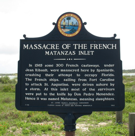 Massacre of the French Marker, Matanzas Inlet