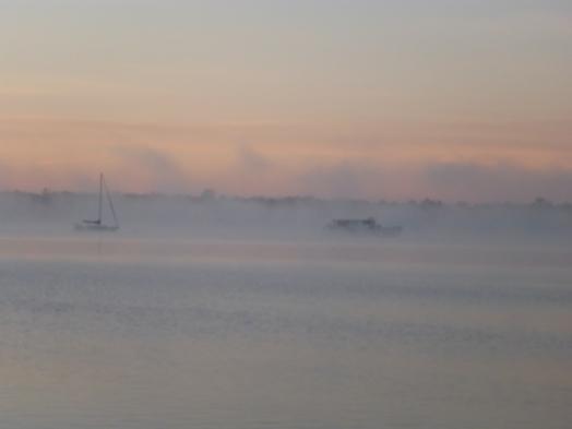 fog rising over Palatka