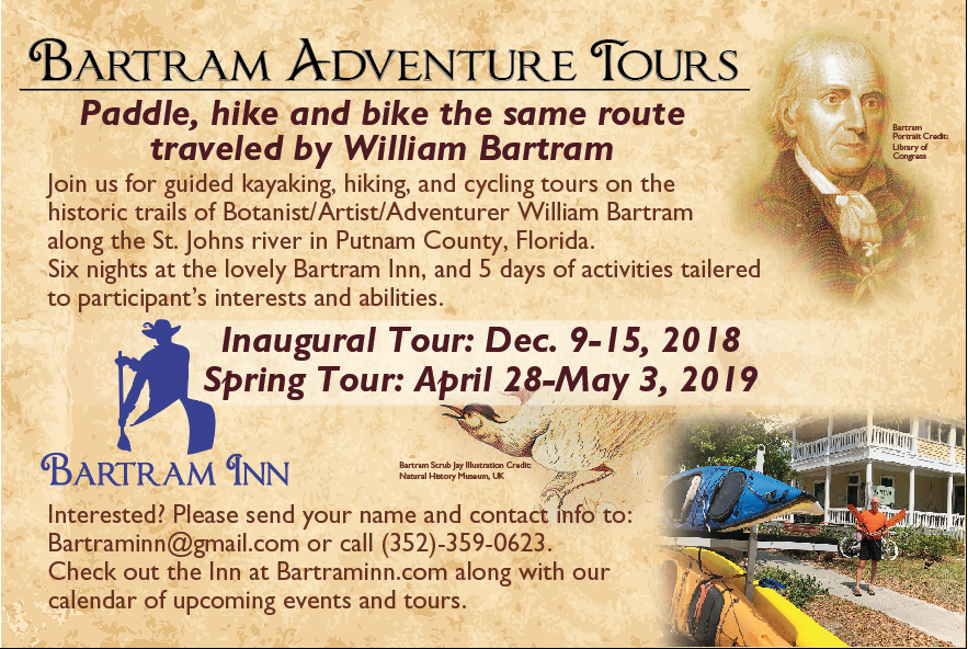 Bartram Adventure Tour postcard