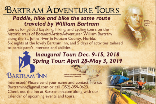 Bartram Adventure Tour postcard