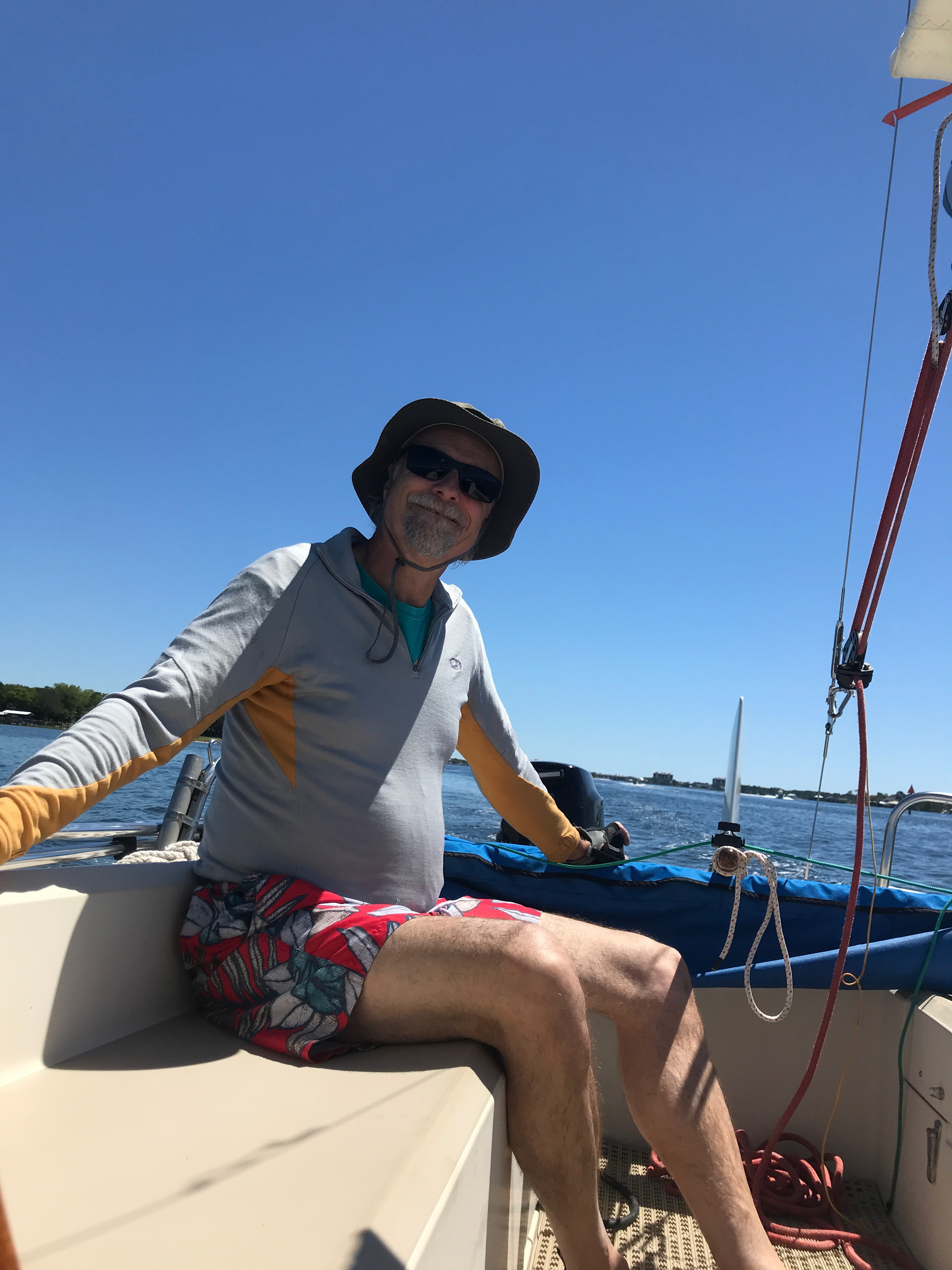 Kevin at sail